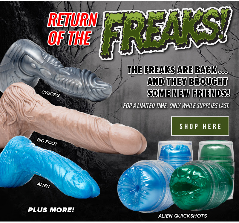 The Fleshjack Freaks Dildos are back for a limited time!